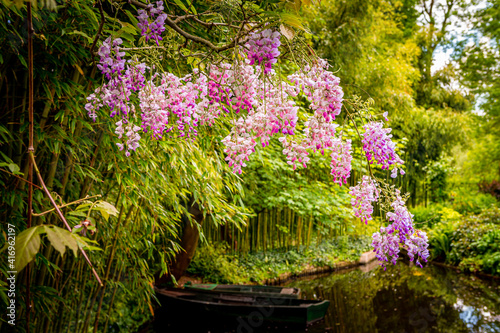 gardens of painter Claude Monet in Giverny, France Wallpaper Mural
