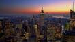 Panoramic view on Manhattan at dusk, New York City.