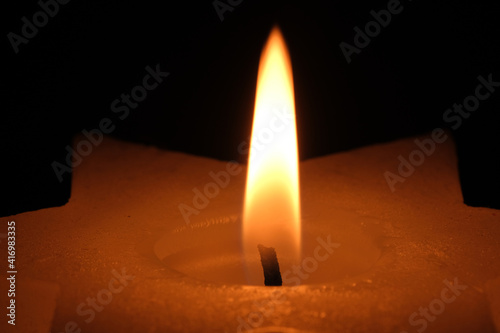 Fototapeta Paraffin thick candle