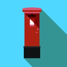 Red Post Box Isolated