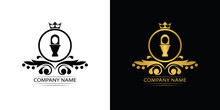 Toilet Bowl Logo Template Luxury Royal Vector Company Decorative Emblem With Crown
