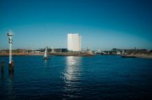 Sailing Boat Entering Scheveningen Harbour, The Netherlands