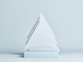 Abstract podium blue background for product presentation, 3d render, 3d illustration.