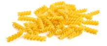 Fusilli Pasta, Isolated On White Background. High Resolution Image