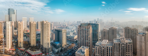 Photo Aerial photography of modern buildings in downtown Qingdao