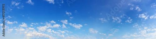 Panorama sky with cloud on a sunny day. Beautiful cirrus cloud. - fototapety na wymiar