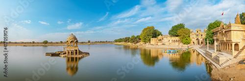 Papel de parede Gadisar lake in the morning at Jaisalmer, Rajasthan, India