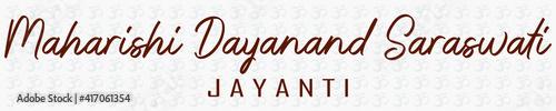 Fotografia Maharishi Dayanand Saraswati Jayanti