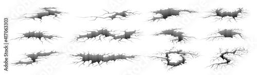 Fotografie, Obraz Earthquake cracks