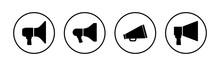 Megaphone Icons Set. Loudspeaker Icon Vector. Volume Icon