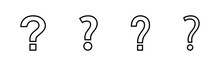 Question Icons Set. Question Mark Sign. Help Icon. Faq