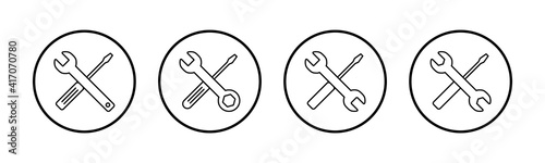 Fotografie, Obraz Repair icons set