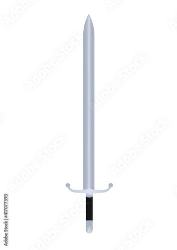 Fotomural Metal  steel sword. vector illustration