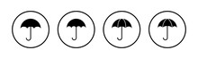 Umbrella Icons Set. Umbrella Vector Icon