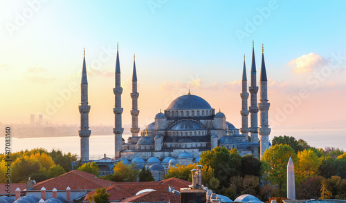Fotografie, Obraz The Blue Mosque, also know as Sultan Ahmet Mosque, Istanbul