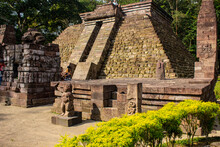 Foreign Tourists Were Traveling In The Sukuh Temple During The Daytime.  Sukuh Temple Is Ancient Erotic Candi Sukuh-Hindu Temple On Central Java, Indonesia