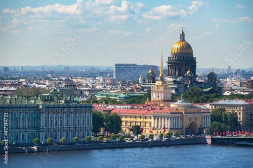 Canvas Print Panorama of Saint Petersburg