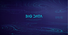 Industry Cyber Complex Big Data Sound Visulization. Abstract Big Data Flow Background.