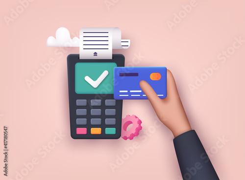 Obraz na płótnie Contactless payment