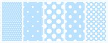 Polkadot Seamless Pattern Set