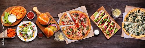 Fotografie, Obraz Healthy plant based fast food table scene