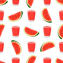 Illustration On Theme Colored Lemonade In Watermelon Cup