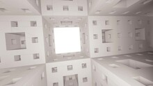 Futuristic Style Menger Sponge Fly-through