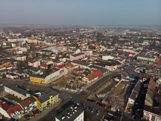 Jędrzejów - centrum miasta/Jedrzejow - the town center, Holy Cross Province, Poland