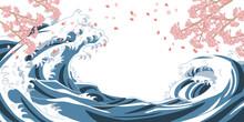 海 和風 桜 花びら