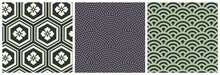 Asian Same Komon Seamless Pattern. Abstract Decoration