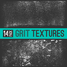 Two Subtle Grit Vector Textures Made Using Sponge Roller. Grime Design Elements On Dark Background. Distressed Vector Grunge Style Effect.
