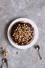 Chocolate And Hazelnut Crepe Cake.