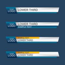 Lower Third Design Template. Vector Illustration.