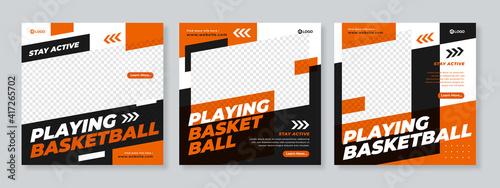 Obraz Sports social media post design template Premium Vector - fototapety do salonu