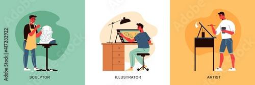 Fotografie, Obraz Illustrating Artists Design Concept