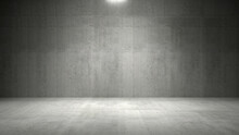 Empty Dark Abstract Industrial Cement Wall Studio Room Interior For Display Product On Concrete Wall Background