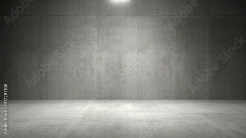 Photo Empty dark abstract industrial cement wall studio room interior for display prod