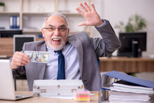 Old Male Employee In Remuneration Concept