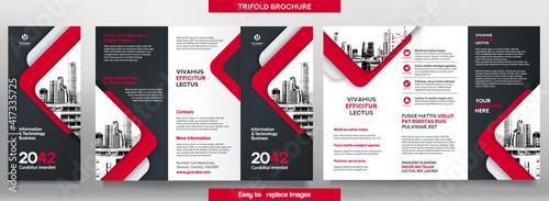 Obraz na płótnie Business Brochure Template in Tri Fold Layout