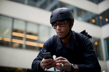 Bicycle Courier Using Cell Phone