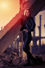 Post Apocalyptic Beauty At Sunset