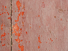 Old Wooden With Crack Of Dry Color Paint Texture