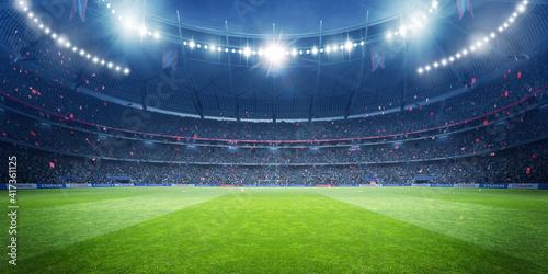 Fotografiet Football stadium at night