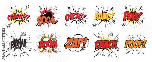 comic wording sound effect set design for comic vector set