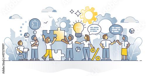 HR employee engagement and motivational work salary bonuses outline concept Fototapet