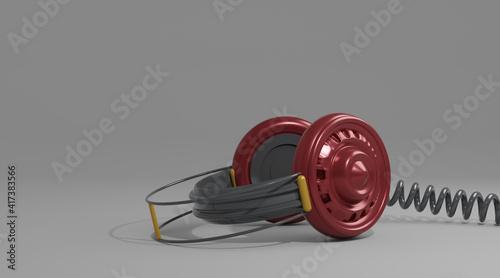 Obraz headphones - fototapety do salonu