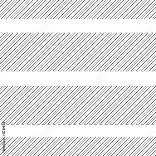 Seamless pattern with  lines.  unusual poster Design .Black Vector stripes .Geometric shape. Endless texture . futuristic template. Geometrical modern background with striped shapes Wall mural