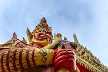 The Giant Statue In Khlong Hae Temple, Songkhla Province, Thailand.