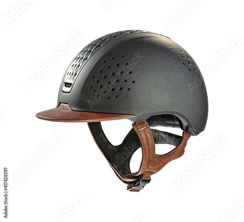 Valokuva Helmet on white background and free space