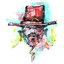 The Man In The Hat. Portrait. Ranger. Sheriff
